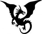 TAG Adhesive Stencil Flying Dragon