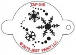TAP015 Face Painting Stencil Snowflakes