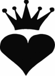 TAG Adhesive Stencil Heart Crown